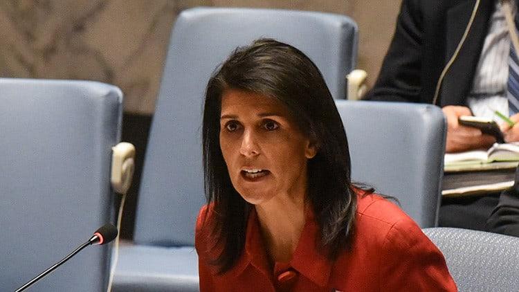 Nikki Haley, reiteró este viernes la posición de EEUU sobre una acción militar en Siria