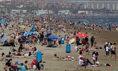 Turistas en los meses de verano.