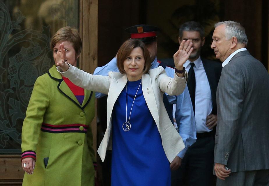 La presidenta del Parlament de Cataluña, Carme Forcadell. FOTO: Reuters