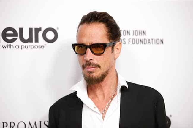 Musician Chris Cornell poses at Elton John's 70th Birthday and 50-Year Songwriting Partnership with Bernie Taupin benefiting the Elton John AIDS Foundation and the UCLA Hammer Museum at RED Studios Hollywood in Los Angeles, California, U.S. March 25, 2017. REUTERS/Danny Moloshok - RTX32QDZ
