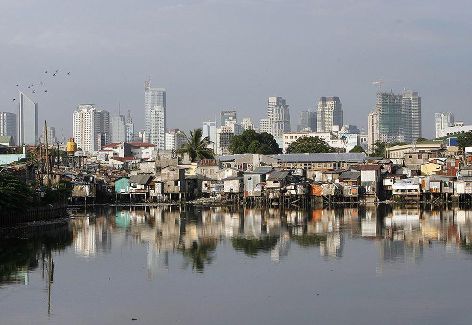 Perspectiva de Manila, capital de Filipinas.