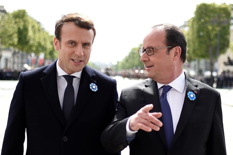 Emmanuel Macron y François Hollande. FOTO: Reuters