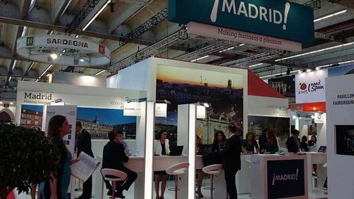 Estand de Madrid en el IMEX de Frankfurt. FOTO: Ayuntamiento de Madrid
