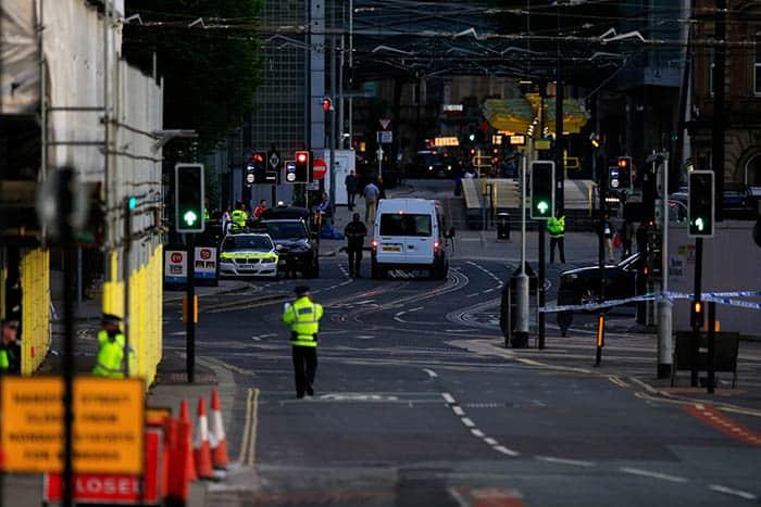 Exterior del Manchester Arena, lugar del atentado. FOTO: Reuters