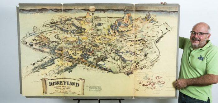 El mapa original de Disneylandia, desde 1953