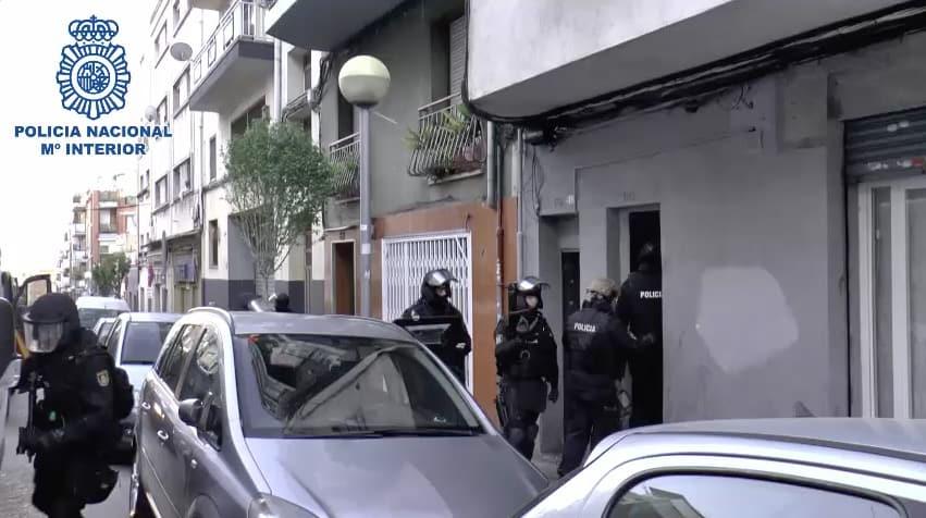 Operación de la Policía contra el Estado Islámico. FOTO: Policía