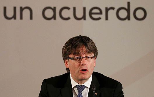 El presidente catalán Carles Puigdemont. FOTO: Reuters