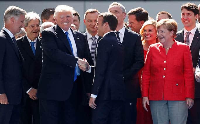 Reunión de los líderes de la OTAN, en Bruselas. FOTO: Reuters