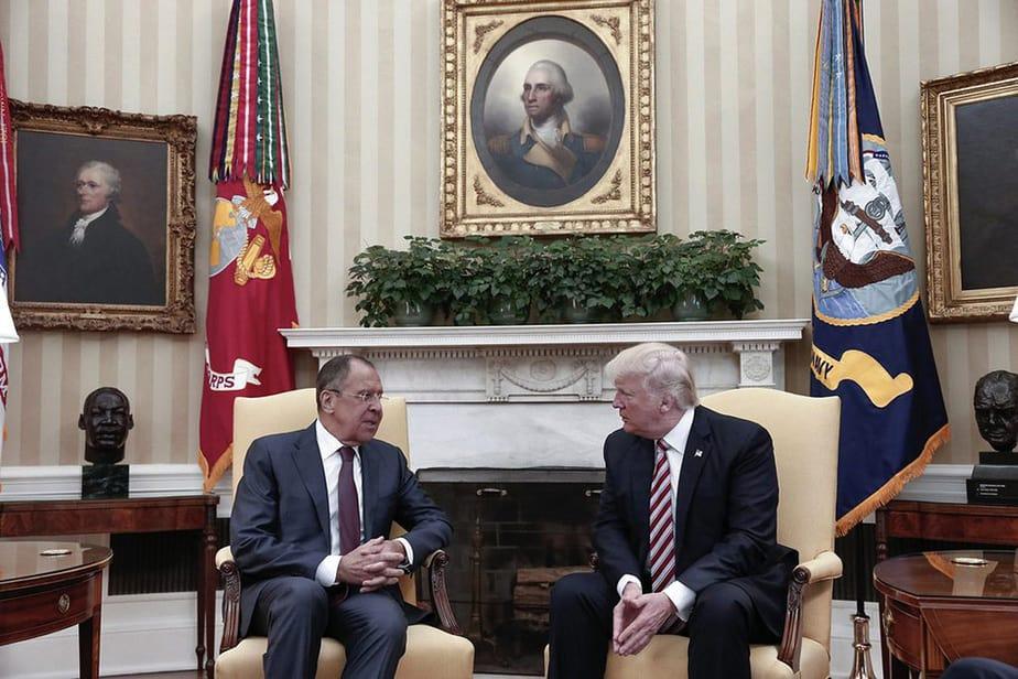 Reunión entre Trump y Lavrov. FOTO: Difundida por el Gobierno ruso