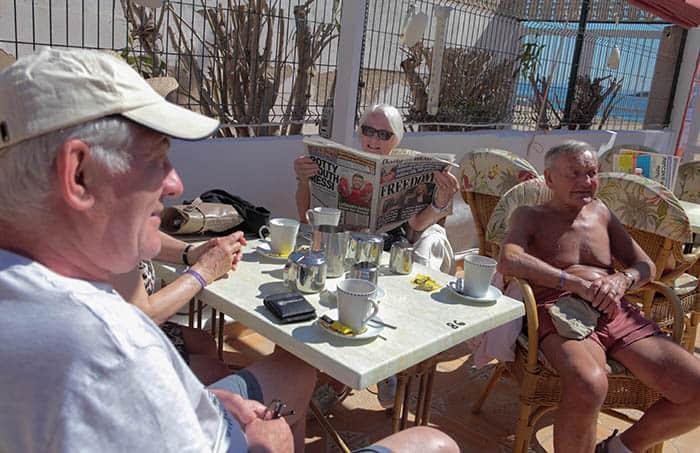 Turistas británicos en Mallorca. FOTO: Reuters