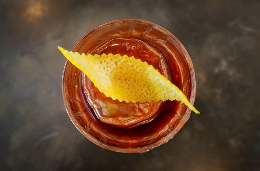 An illustration photo shows a Boulevardier cocktail at Barmaglot bar in Almaty, Kazakhstan June 22, 2017.  REUTERS/Shamil Zhumatov