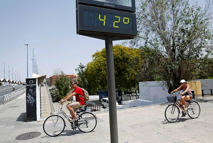 Calor en Sevilla. FOTO: Reuters