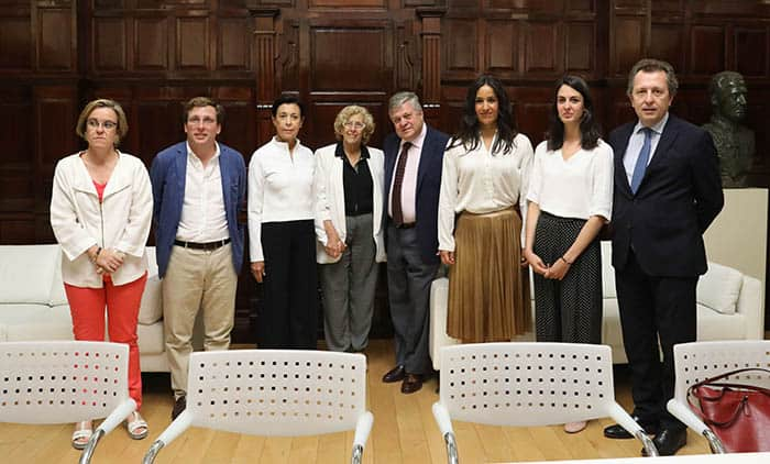 Recepción del Ayuntamiento de Madrid a los padres de Leopoldo López. FOTO: Ayuntamiento de Madrid