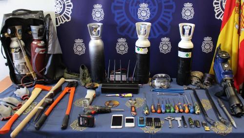 Efectos incautados por la Policía. FOTO: Policía