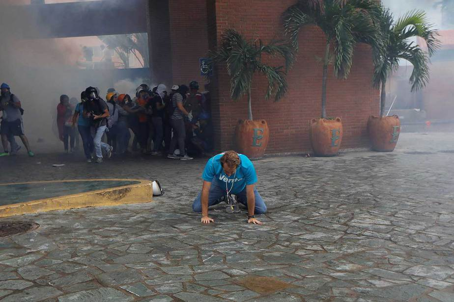 Manifestacion al Poder Electoral en contra de la Constituyente, Caracas, Venezuela (07/06/17) Reuters