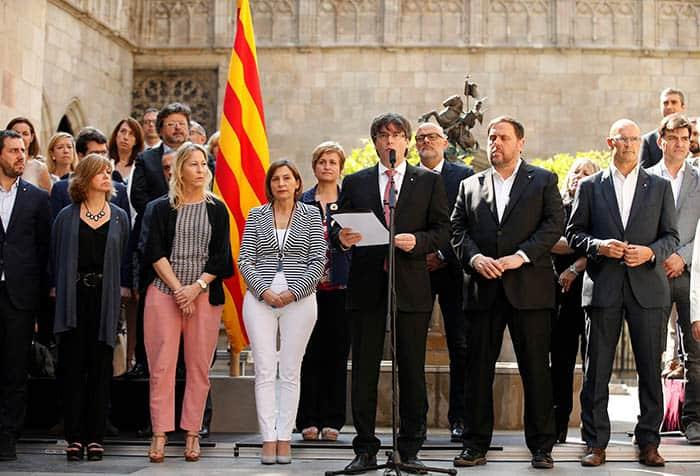 El president de la Generalitat, Carles Puigdemont. FOTO: Reuters