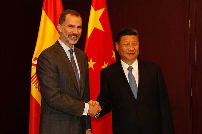 Encuentro entre el Rey y Xi-Jinping. FOTO: Casa Real