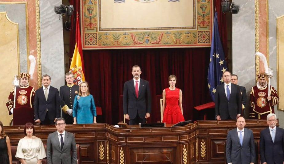 Acto solemne en el Congreso por el 40 aniversario de las elecciones de 1977, con presencia del Rey. FOTO: Casa Real