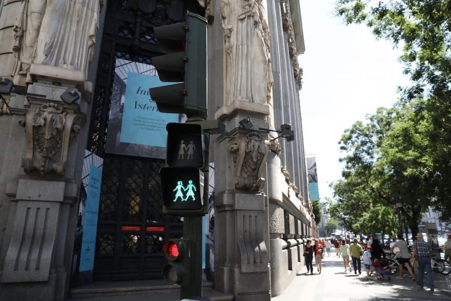 Semáforos inclusivos de Madrid. FOTO: Ayuntamiento de Madrid