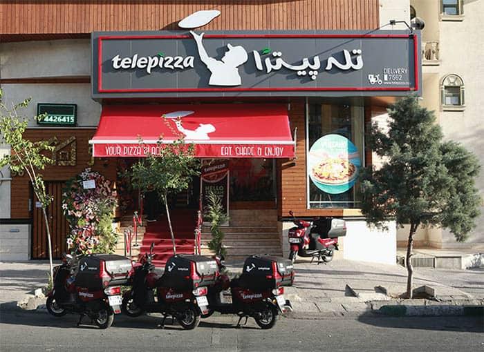 Establecimiento de Telepizza en Teherán, Irán. FOTO: Telepizza