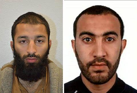 Los dos terroristas de Londres. FOTO: Reuters