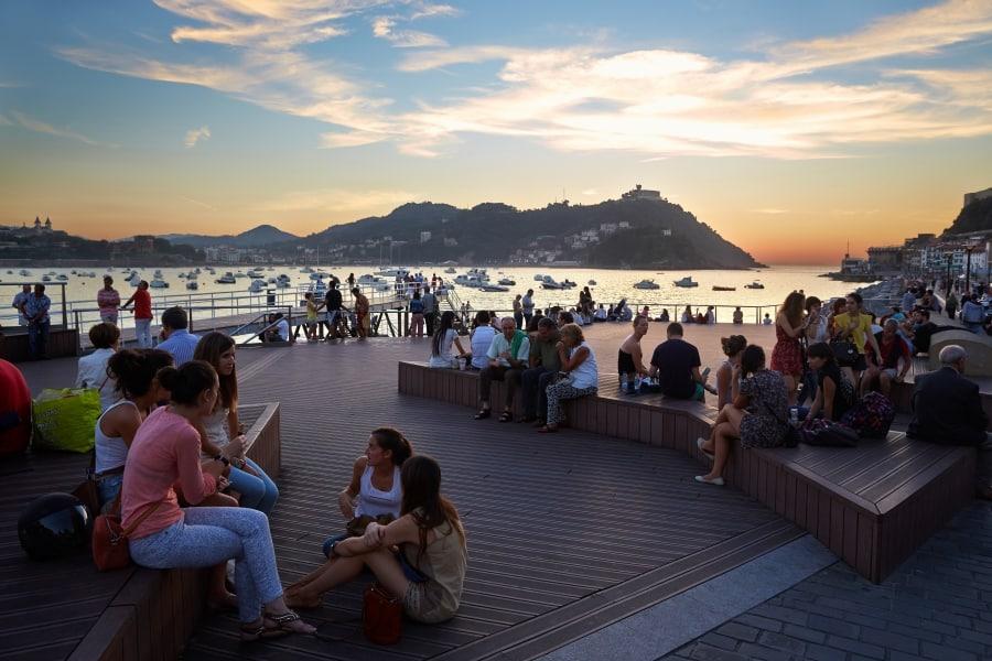 Terraza del Naútico en San Sebastián.