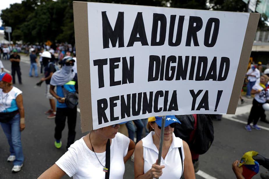 Protesta en contra de la Constituyente