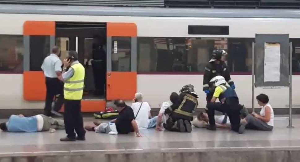 Primeras imágenes del accidente de tren de Barcelona.