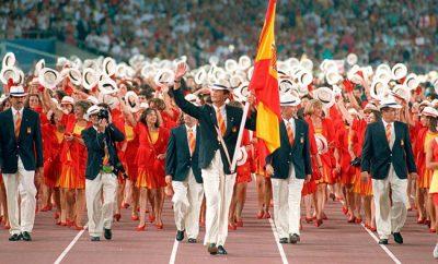 El hoy Rey Felipe VI, abanderado de los Juegos de Barcelona 92.