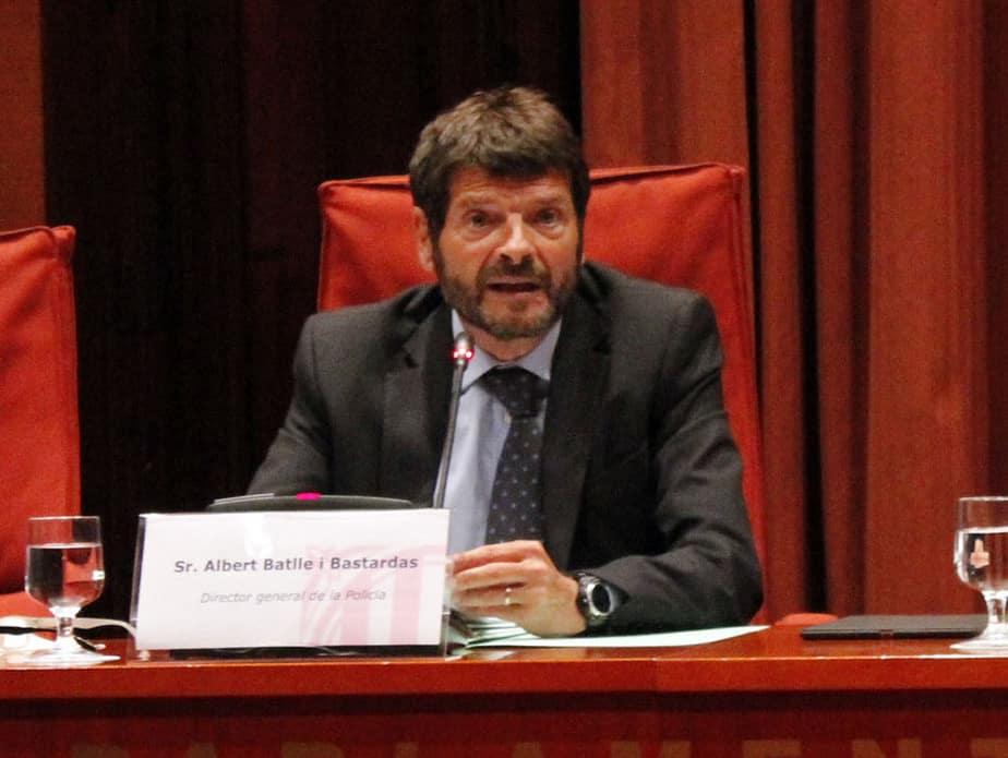 Albert Batlle, exdirector de los Mossos d'Esquadra. FOTO: Gencat