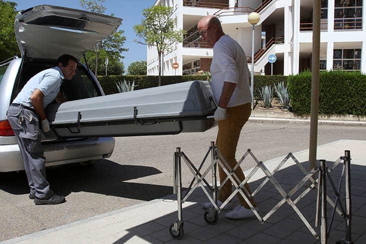 El cuerpo del expresidente de Caja Madrid Miguel Blesa. FOTO: Reuters