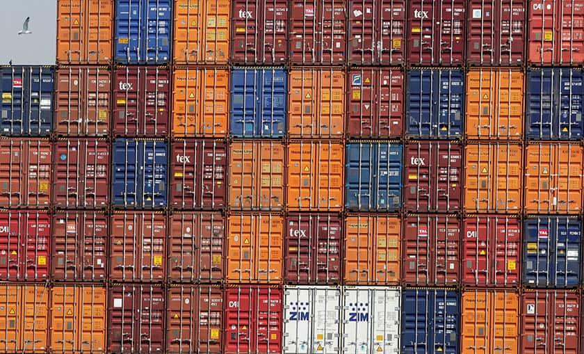 Containers exportaciones.