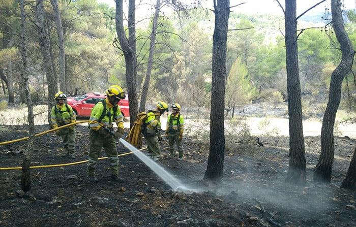 Incendio de la Sierra de Calderona. FOTO: Emergencias