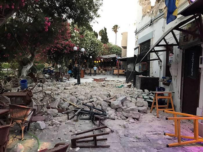 Terremoto en la isla griega de Kos. FOTO: Reuters