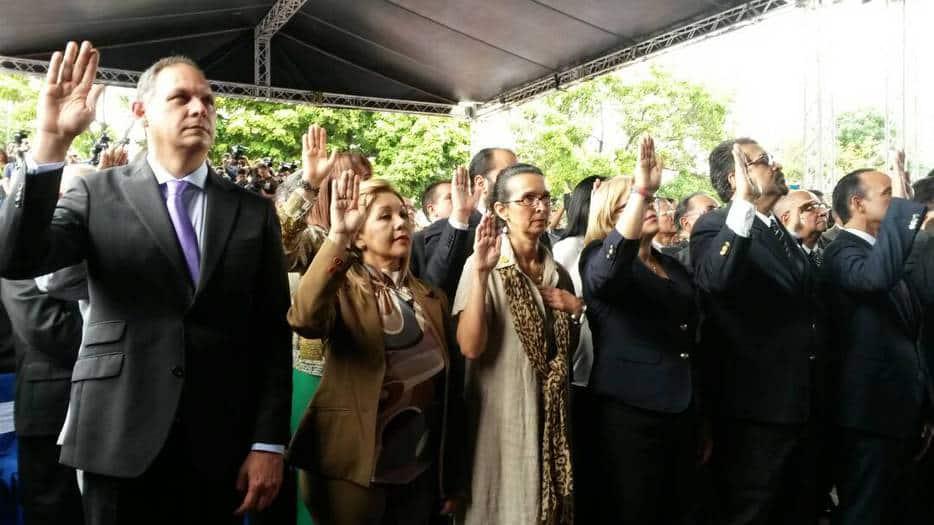 Juramentación de los nuevos magistrados del TSJ en Venezuela, designados por la AN