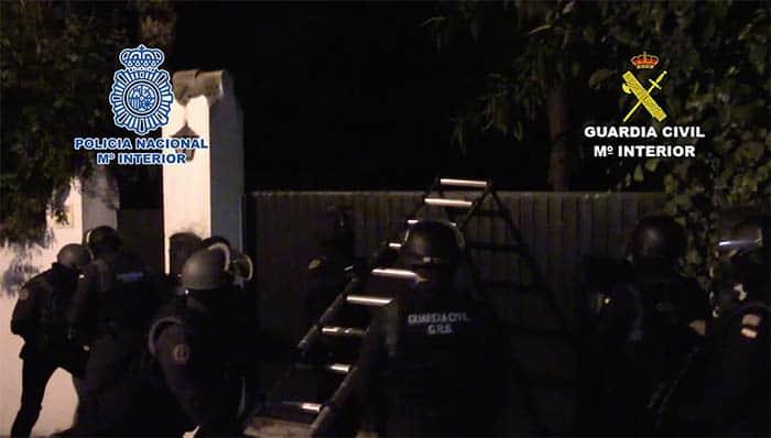 Operación contra el narcotráfico de la Policía y la Guardia Civil. FOTO: Policía
