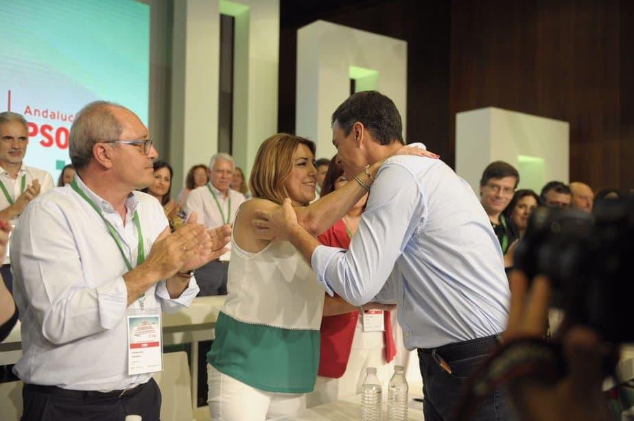 Pedro Sánchez y Susana Díaz abogaron por la lealtad dentro del PSOE