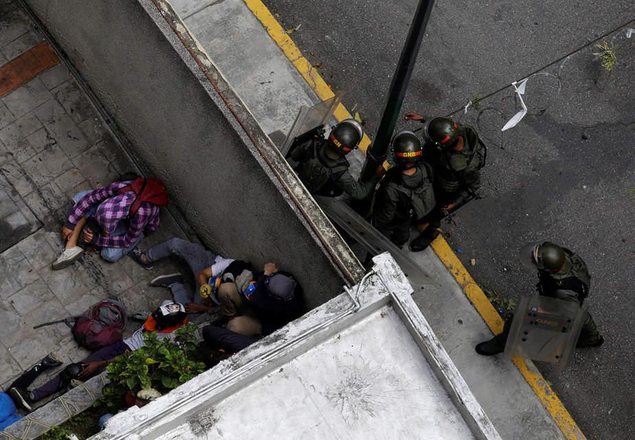 """Protestas en Caracas, Venezuela en el marco del """"Paro cívico nacional"""" (20-07) Reuters"""