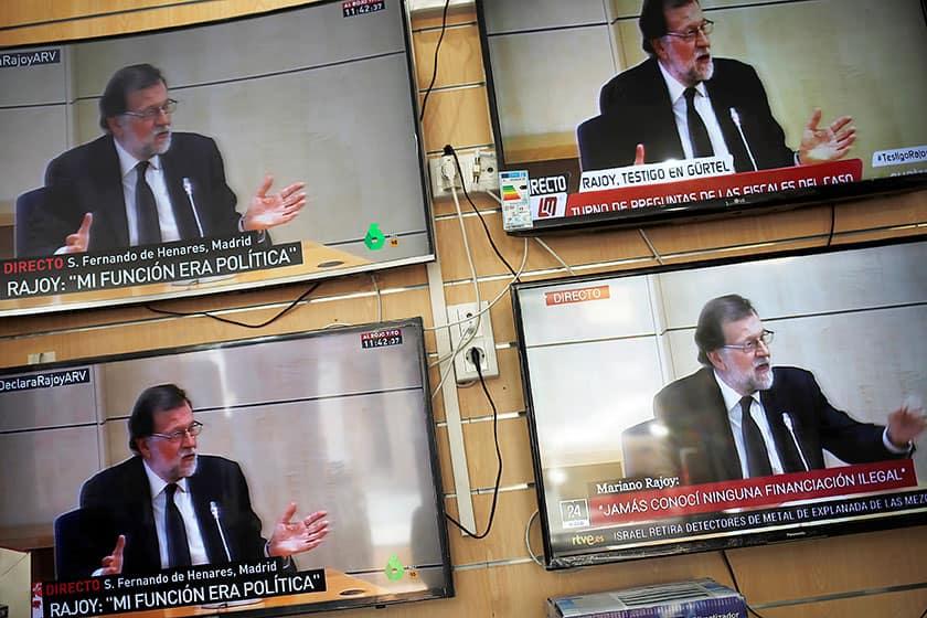 Mariano Rajoy declarando ante la Audiencia Nacional. FOTO: Reuters