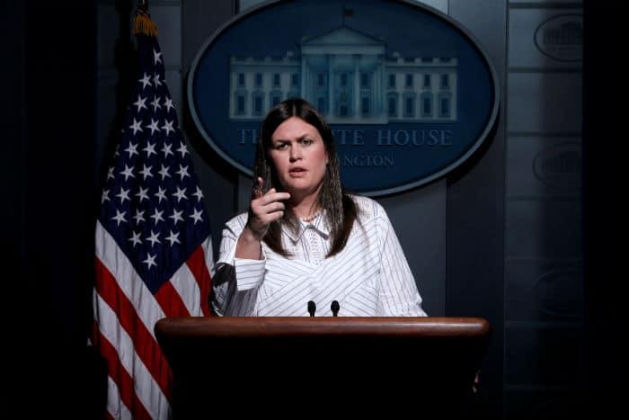 La nueva portavoz de la Casa Blanca Sarah Huckabee Sanders. FOTO: Reuters