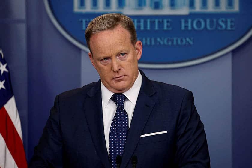 El hasta ahora portavoz de la Casa Blanca Sean Spicer. FOTO: Reuters
