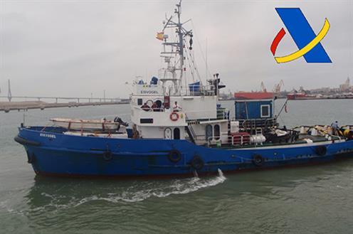 Embarcación incautada en Cádiz. FOTO: Moncloa