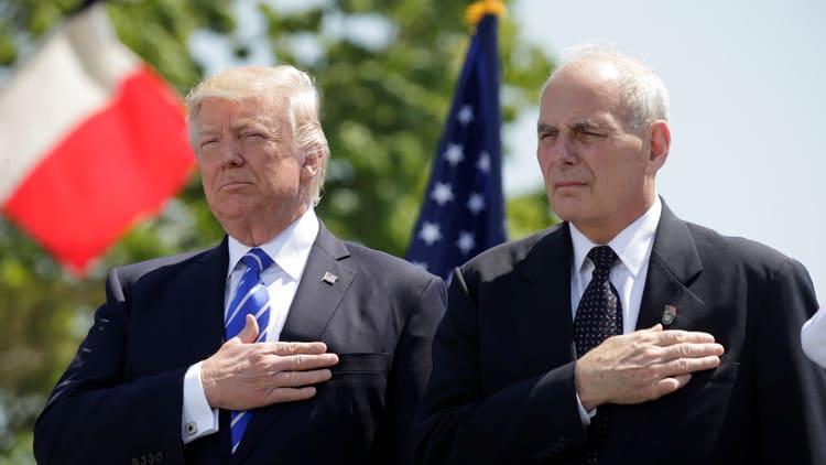 Trump y John Kelly