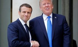 Macron en Estados Unidos en una visita trascendental