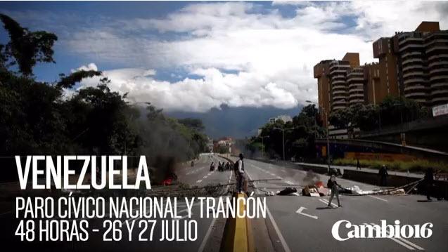 En Venezuela se desarrolla desde el miércoles una huelga general convocada por la oposición