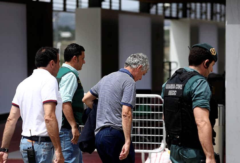 Ángel María Villar, detenido por la operación Soule.