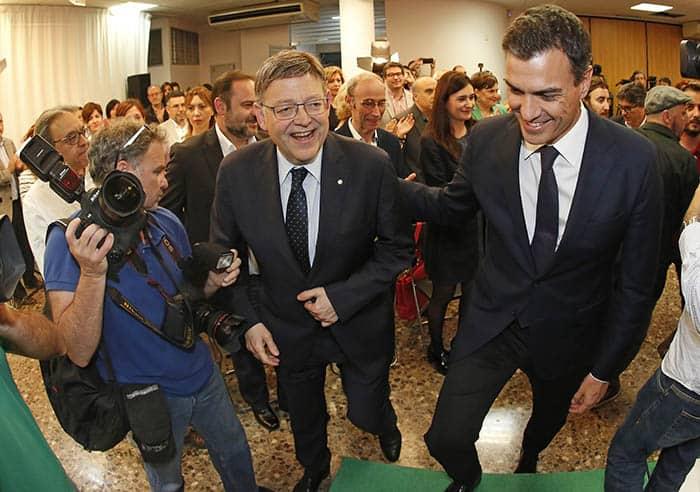 El secretario general de los socialistas valencianos, Ximo Puig junto a Pedro Sánchez. FOTO: Flickr