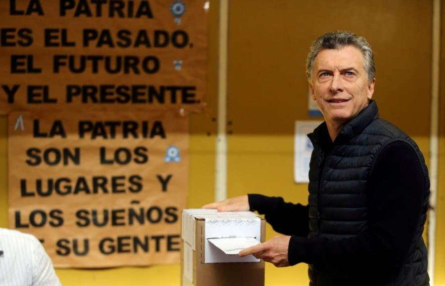 Macri celebra los resultados en Argentina