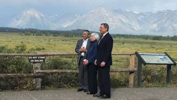 Proteccionismo El presidente del BCE no ha hecho referencias explícitas a su programa de estímulos discurso en la conferencia de Jackson Hole (Wyoming, EEUU)