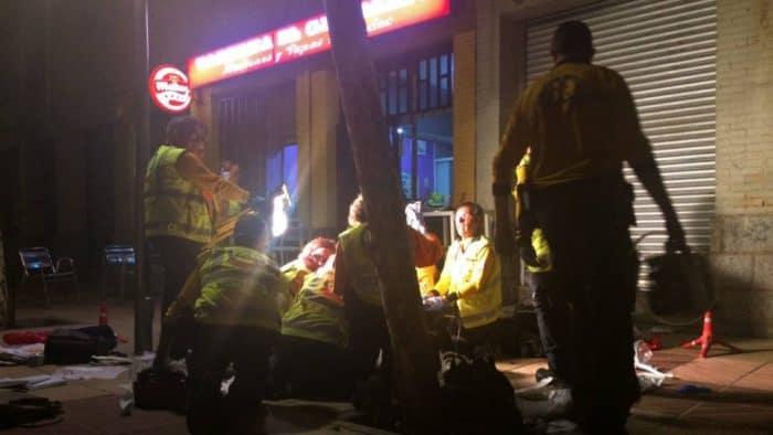 Tras ser tiroteado, los servicios d eEmergencias intentaron sin éxito la reanimación de la víctima.